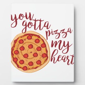 ピザ私のハート フォトプラーク