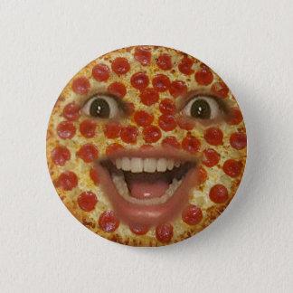 ピザ顔ボタン 5.7CM 丸型バッジ