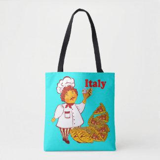 ピザ、アイスクリーム、人イタリアを方向を変えて下さい トートバッグ