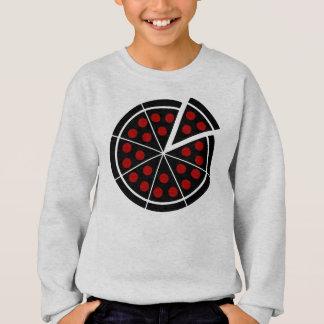 ピザ-暗いステンシル スウェットシャツ