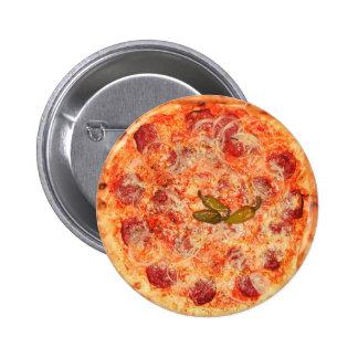 ピザ 5.7CM 丸型バッジ