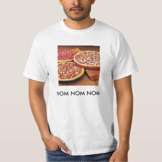 ピザ- Nom Nomのnom Tシャツ