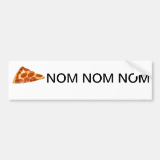 ピザNom Nom Nom バンパーステッカー