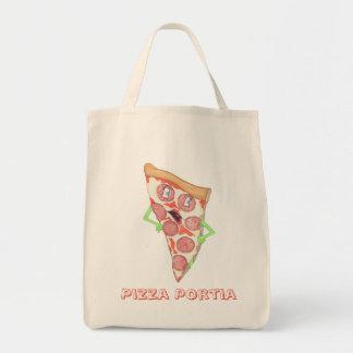 """""""ピザPortia""""の買い物袋 トートバッグ"""