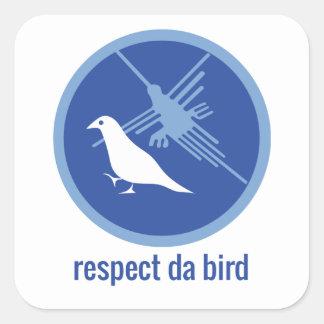 """ピジン言語のQuixotéの""""点Daの鳥""""のステッカー スクエアシール"""