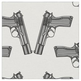 ピストル、拳銃の絵 ファブリック