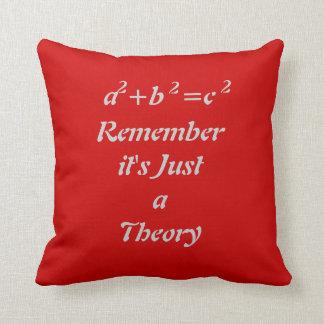 ピタゴラスの定理のおもしろいで赤い装飾用クッション クッション