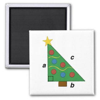 ピタゴラスの定理のクリスマスのGeom e木 マグネット