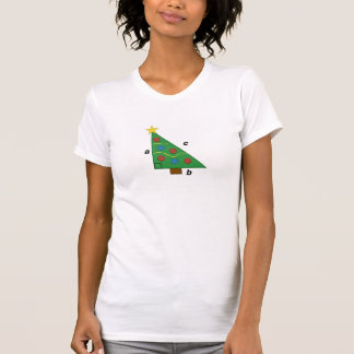 ピタゴラスの定理の直角三角形のクリスマス Tシャツ