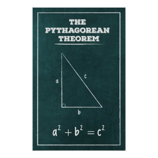 ピタゴラスの定理 ポスター