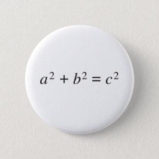 ピタゴラスの定理 5.7CM 丸型バッジ