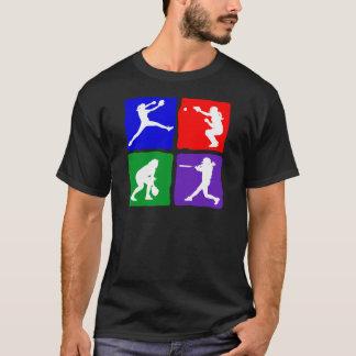 ピッチャー、キャッチャー、ねり粉、外野手、basicx4 tシャツ