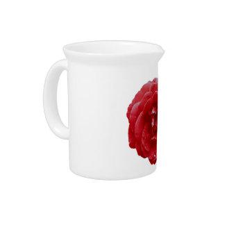 ピッチャー-赤く赤いバラ ピッチャー