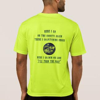 ピッチングのスポーツのTekの蹄鉄のティー…  ページを回して下さい Tシャツ
