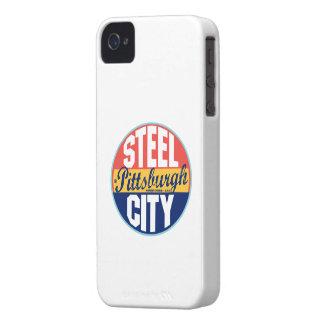 ピッツバーグのヴィンテージのラベル Case-Mate iPhone 4 ケース