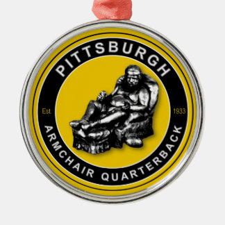 ピッツバーグの肘掛け椅子QBのオーナメント メタルオーナメント