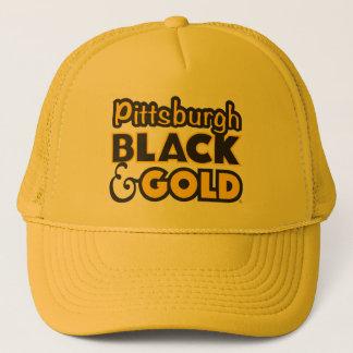 ピッツバーグの黒及び金ゴールドの帽子 キャップ
