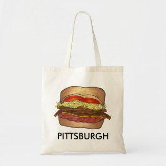ピッツバーグのPAのフライドポテトのコールスローサンドイッチ戦闘状況表示板 トートバッグ