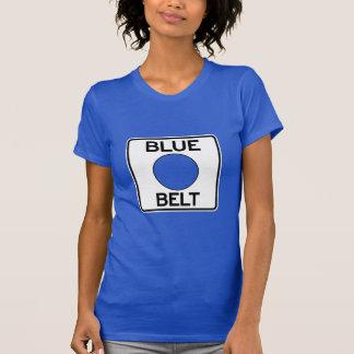 ピッツバーグ青いベルトのTシャツ(女性の切口) Tシャツ