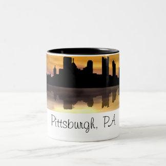 ピッツバーグ、PA ツートーンマグカップ