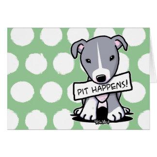 ピットは犬ピットブル起こります カード