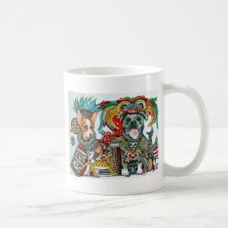 ピットブルおよびチワワ コーヒーマグカップ