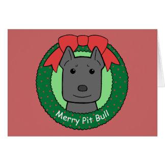 ピットブルのクリスマス カード