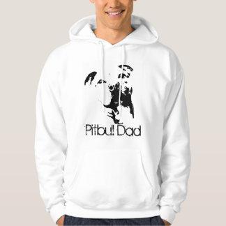 ピットブルのパパ犬のスエットシャツ パーカ
