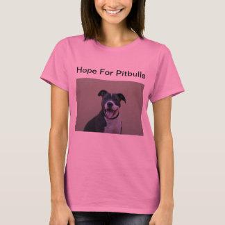 ピットブルのロゴのTシャツのための女性の希望 Tシャツ
