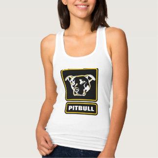 ピットブルの堅いロゴのワイシャツは粉砕衝突です タンクトップ