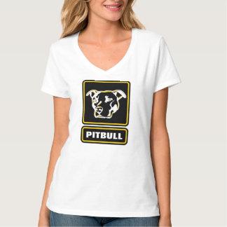 ピットブルの堅いロゴのワイシャツは粉砕衝突です Tシャツ