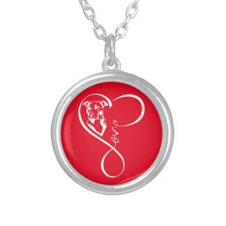 ピットブルの完全な心拍の銀によってめっきされるネックレス シルバープレートネックレス