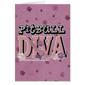 ピットブルの花型女性歌手 カード