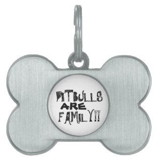 ピットブルは家族つばのラベルです ペットIDタグ