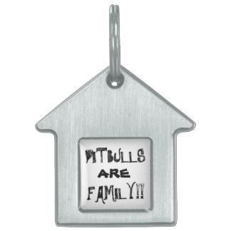 ピットブルは家族のドッグカラーのラベルです ペットネームタグ