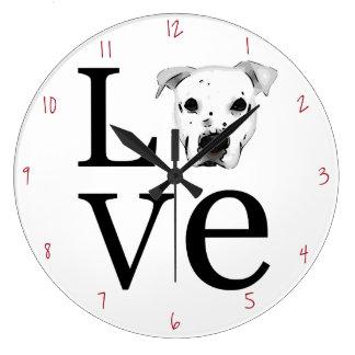 ピットブル愛 ラージ壁時計