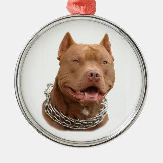 ピットブル犬 メタルオーナメント