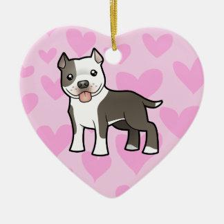 ピットブル/アメリカ(犬)スタッフォードテリア愛 セラミックオーナメント