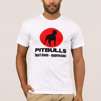 ピットブル- Tシャツを憎まないで下さい、認めないで下さい Tシャツ