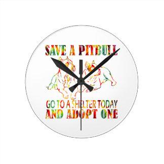ピットブルT1を採用して下さい ラウンド壁時計