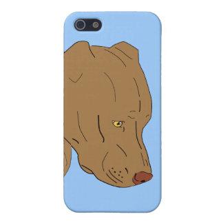 ピット・ブルのかわいく、悲しいポートレート-線画 iPhone 5 CASE