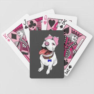 ピット・ブルの子犬のトランプカード・デッキ バイスクルトランプ