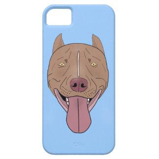 ピット・ブルの微笑のポートレート-線画 iPhone 5 CASE