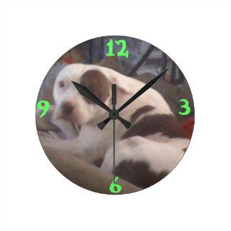 ピット・ブルの時計 ラウンド壁時計