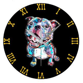 ピット・ブルの柱時計 ラージ壁時計