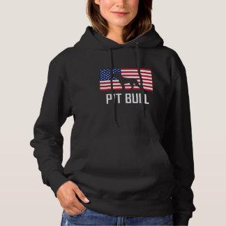 ピット・ブルの米国旗 パーカ