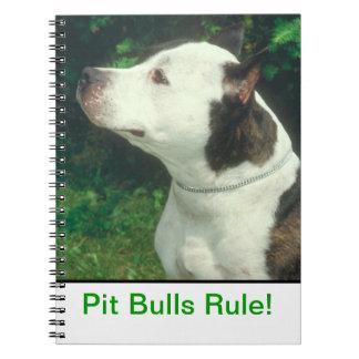 ピット・ブルの規則のノート ノートブック