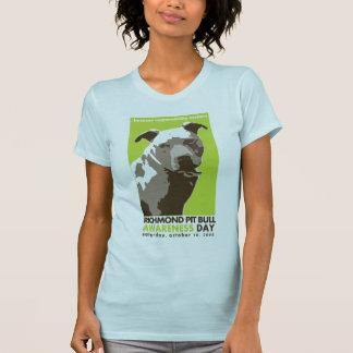 ピット・ブルの認識度日のワイシャツ Tシャツ