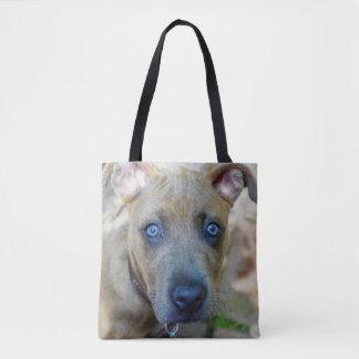 ピット・ブルのBrindle子犬 トートバッグ