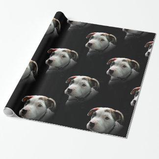 ピット・ブルのT骨の子犬 ラッピングペーパー